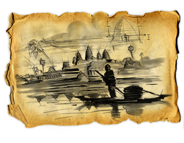 Illustration of a Cambodian Boatman