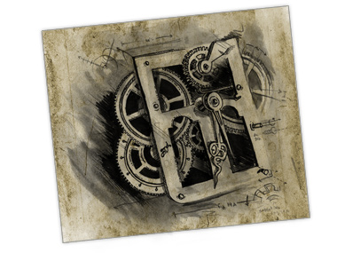 Illustration of Clock Inner-workings