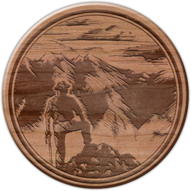 Laser-Etched Medallion