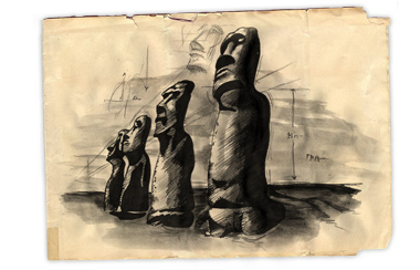 Illustration of Easter Island Moas