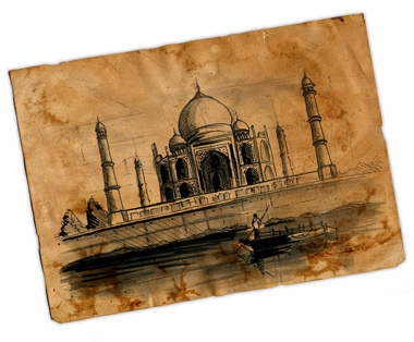 Illustration of the Taj Mahal