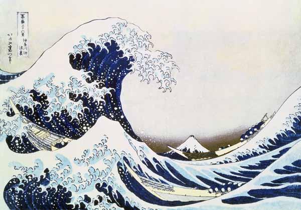 Katsushika Hokusai's The Great Wave of Kanagawa Print