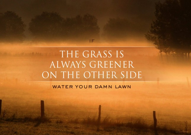 If the grass is always greener...