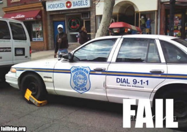 Hoboken Police Car Fail