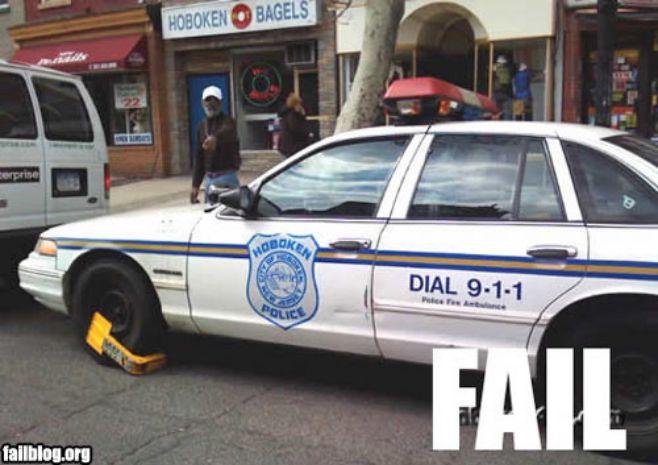 Hoboken Police Car Fail